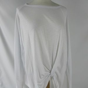 SANCTUARY White So Twisted Long Sleeve T Shirt XL